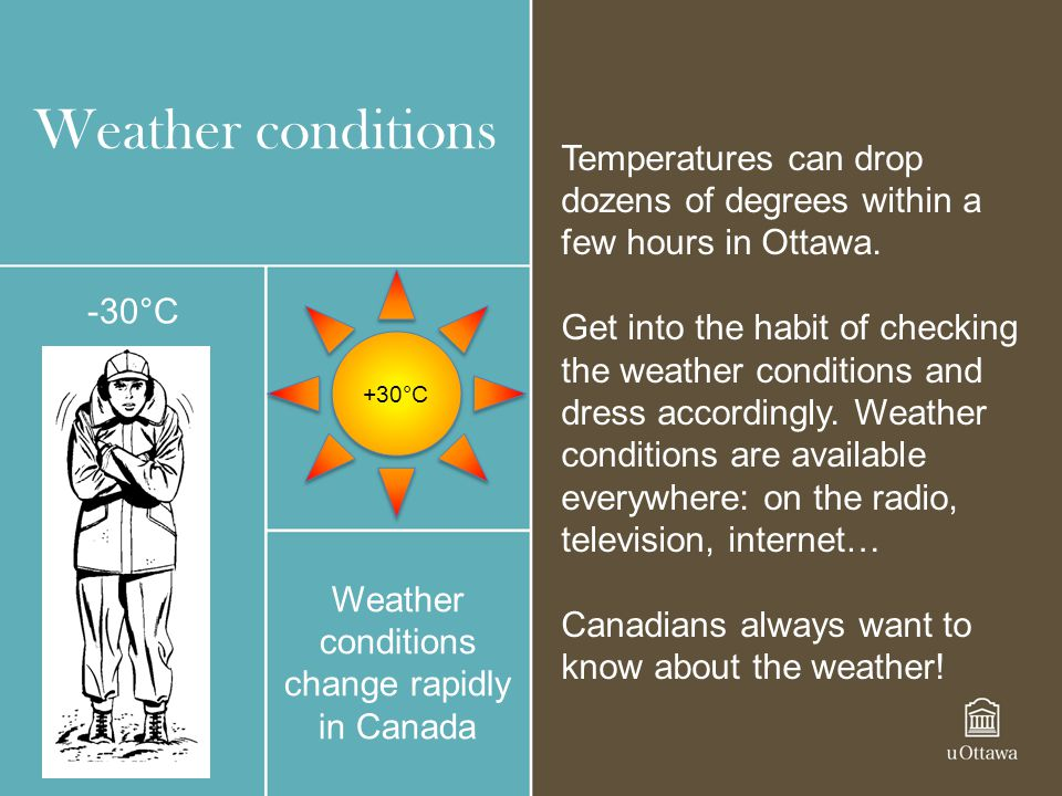 Weather conditions change rapidly in Canada