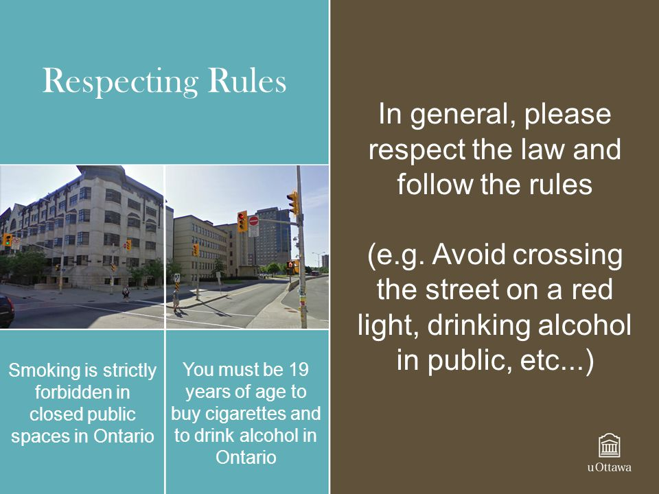 Respecting Rules In general, please respect the law and follow the rules.