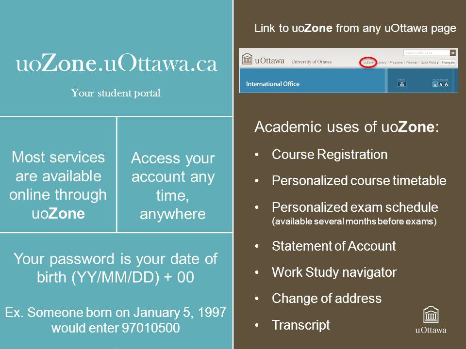 uoZone.uOttawa.ca Academic uses of uoZone: