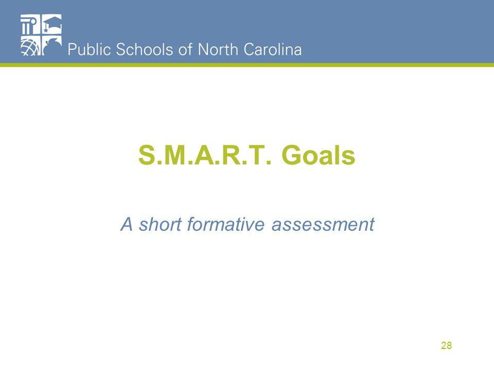 A short formative assessment
