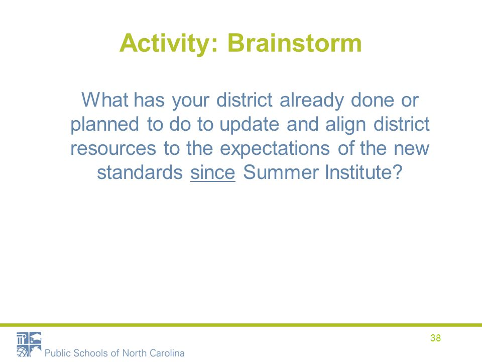 Activity: Brainstorm