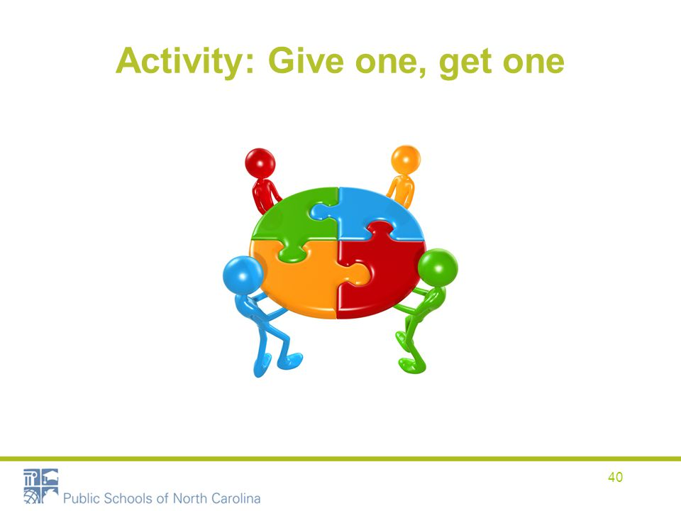 Activity: Give one, get one