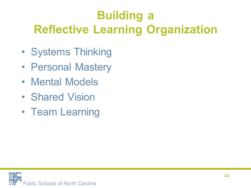 Building a Reflective Learning Organization
