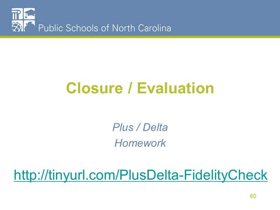 Closure / Evaluation
