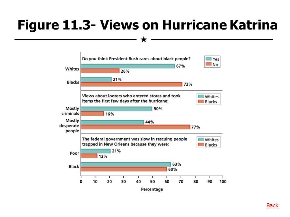 Figure 11.3- Views on Hurricane Katrina
