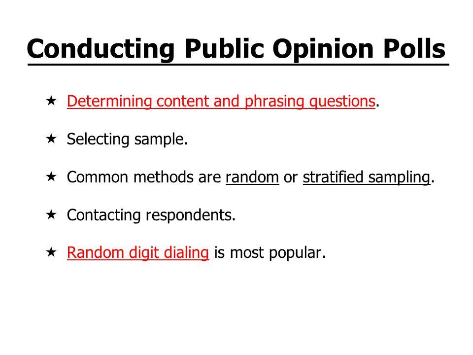 Conducting Public Opinion Polls