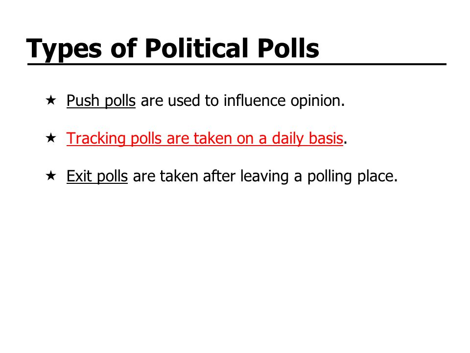 Types of Political Polls
