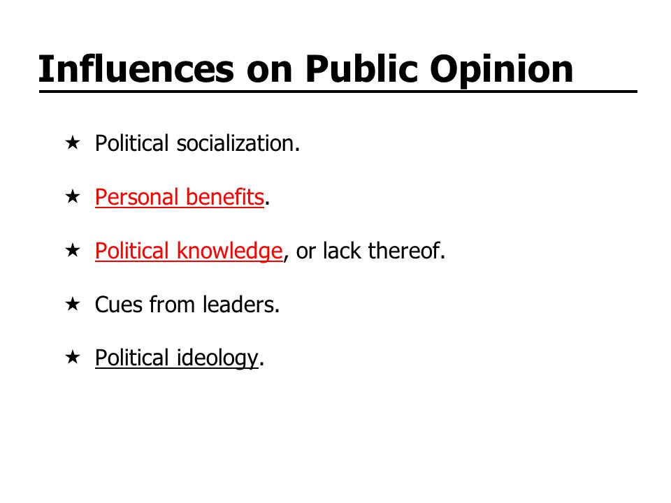 Influences on Public Opinion