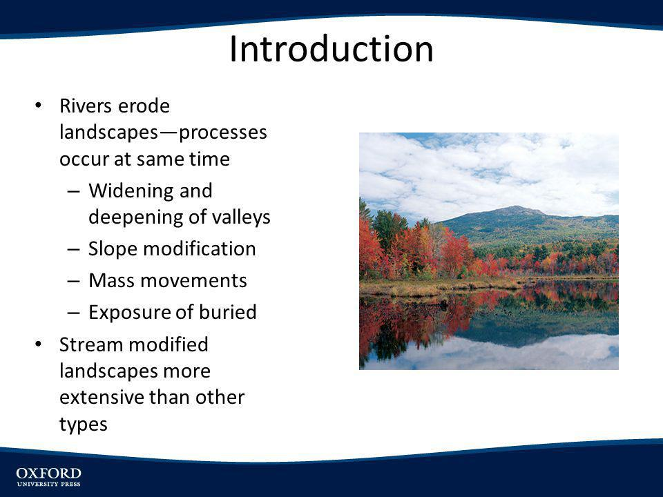 Introduction Rivers erode landscapes—processes occur at same time