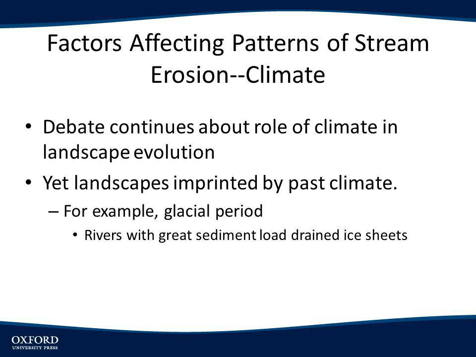 Factors Affecting Patterns of Stream Erosion--Climate