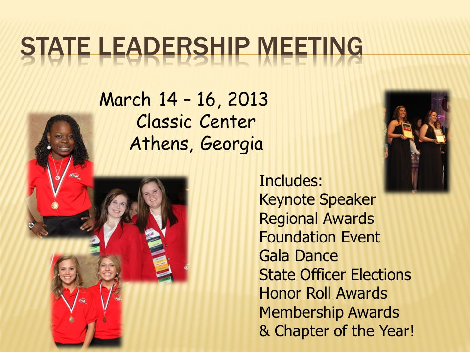 State Leadership Meeting