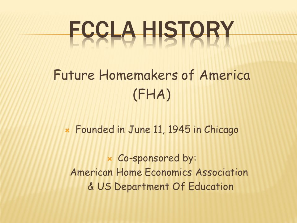 FCCLA History Future Homemakers of America (FHA)
