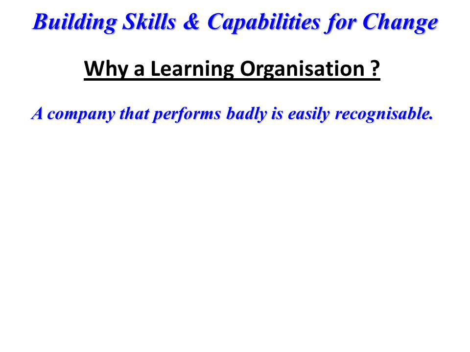 Why a Learning Organisation