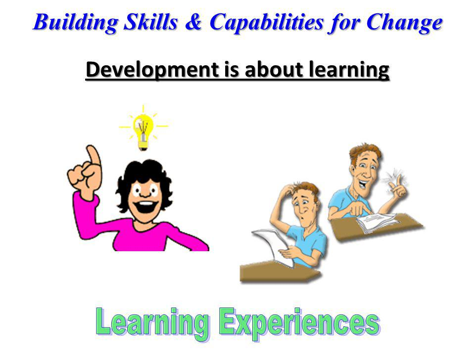 Development is about learning