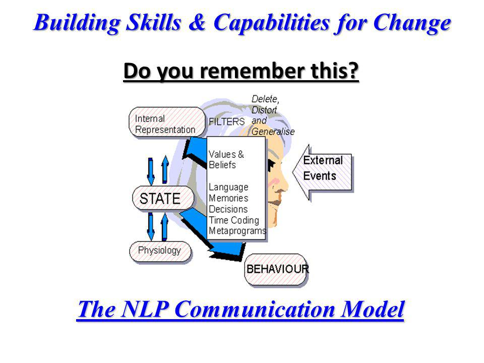Do you remember this The NLP Communication Model