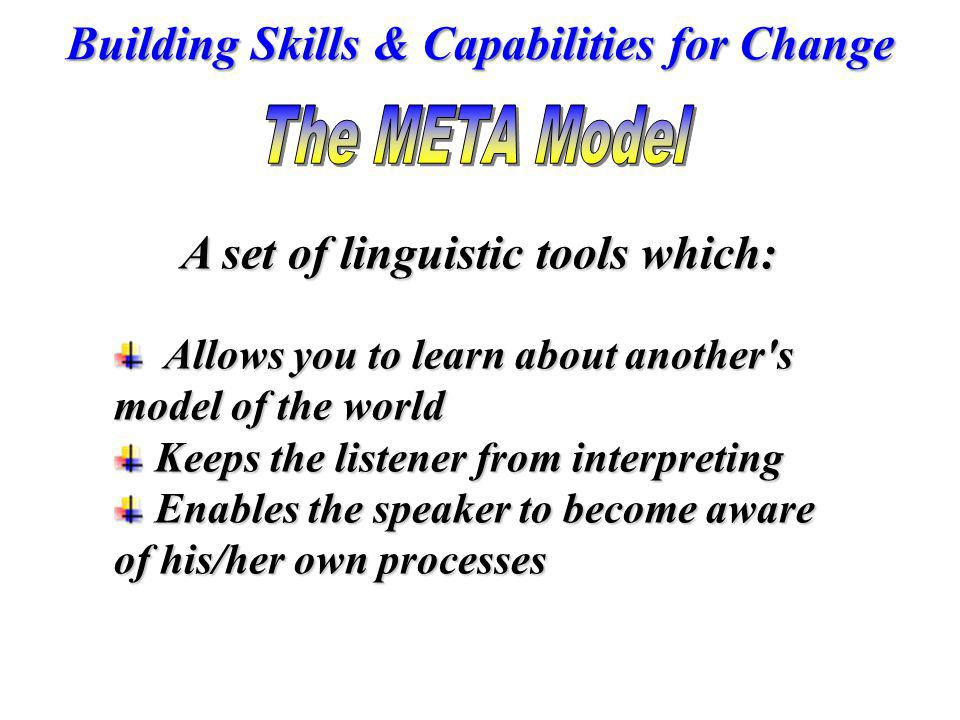 A set of linguistic tools which:
