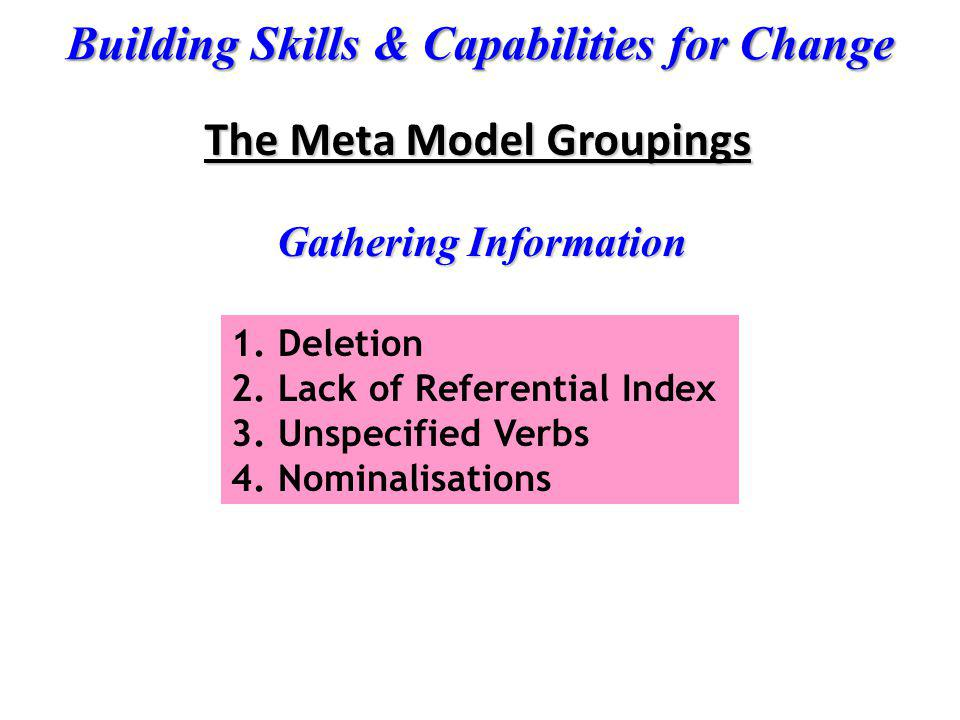 The Meta Model Groupings
