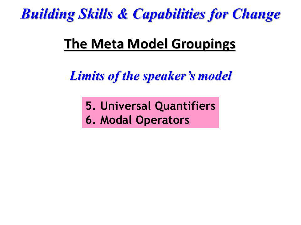 Limits of the speaker's model