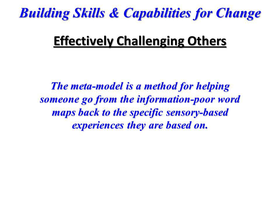 Effectively Challenging Others
