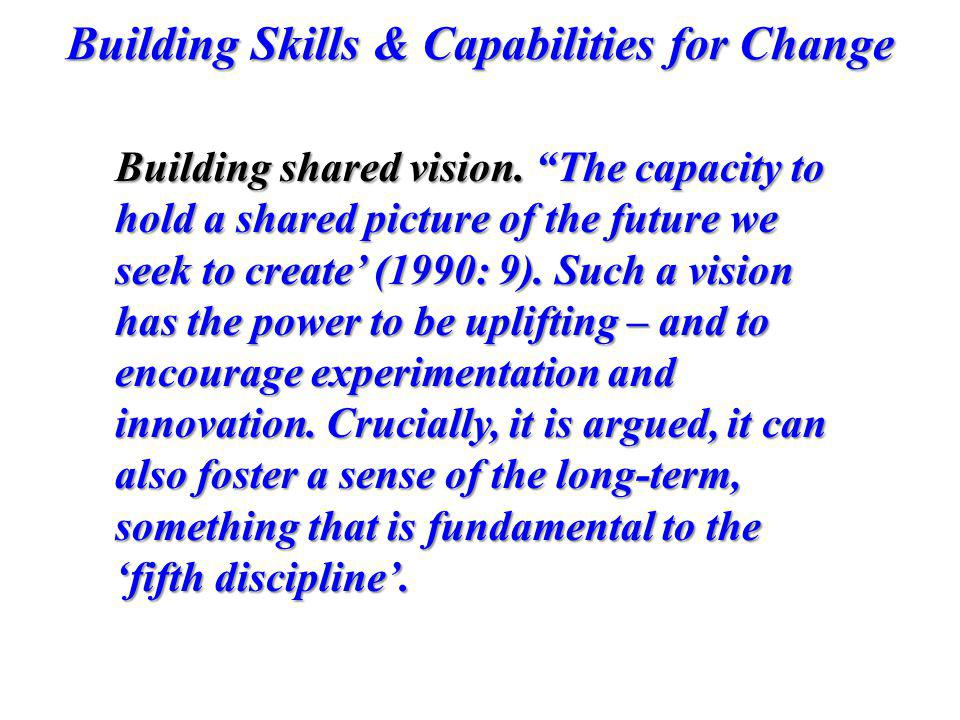 Building shared vision