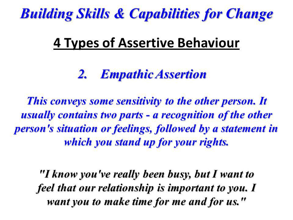 4 Types of Assertive Behaviour