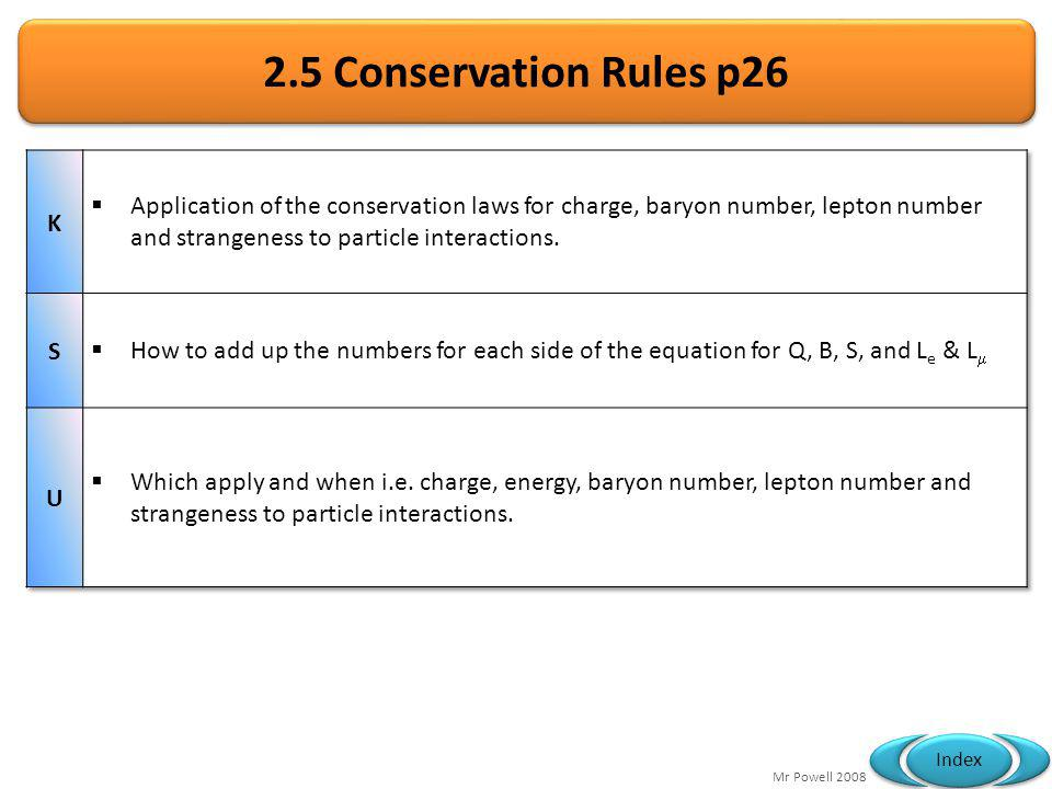 2.5 Conservation Rules p26 K.