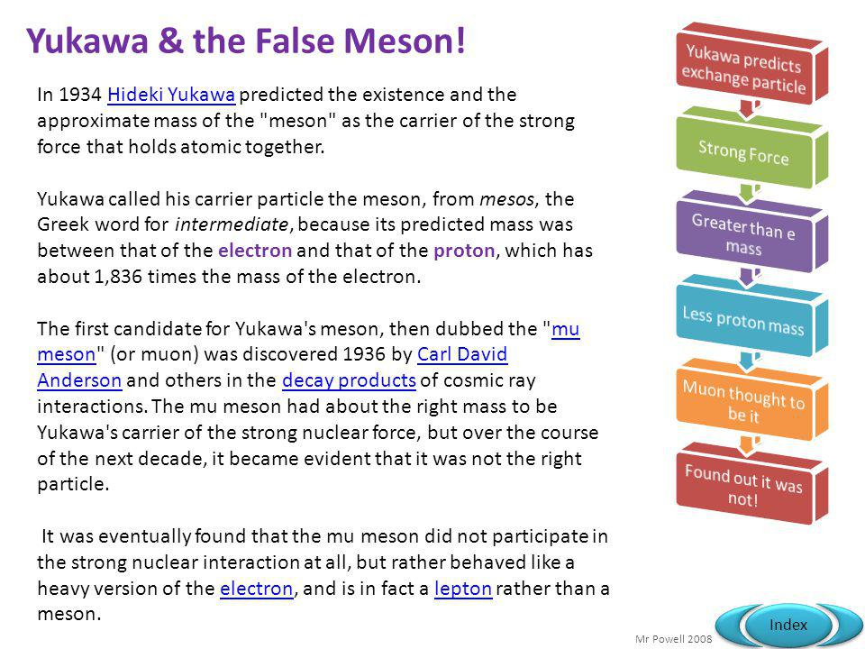 Yukawa & the False Meson!