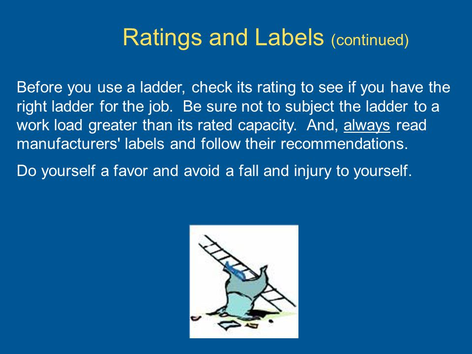 Ratings and Labels (continued)
