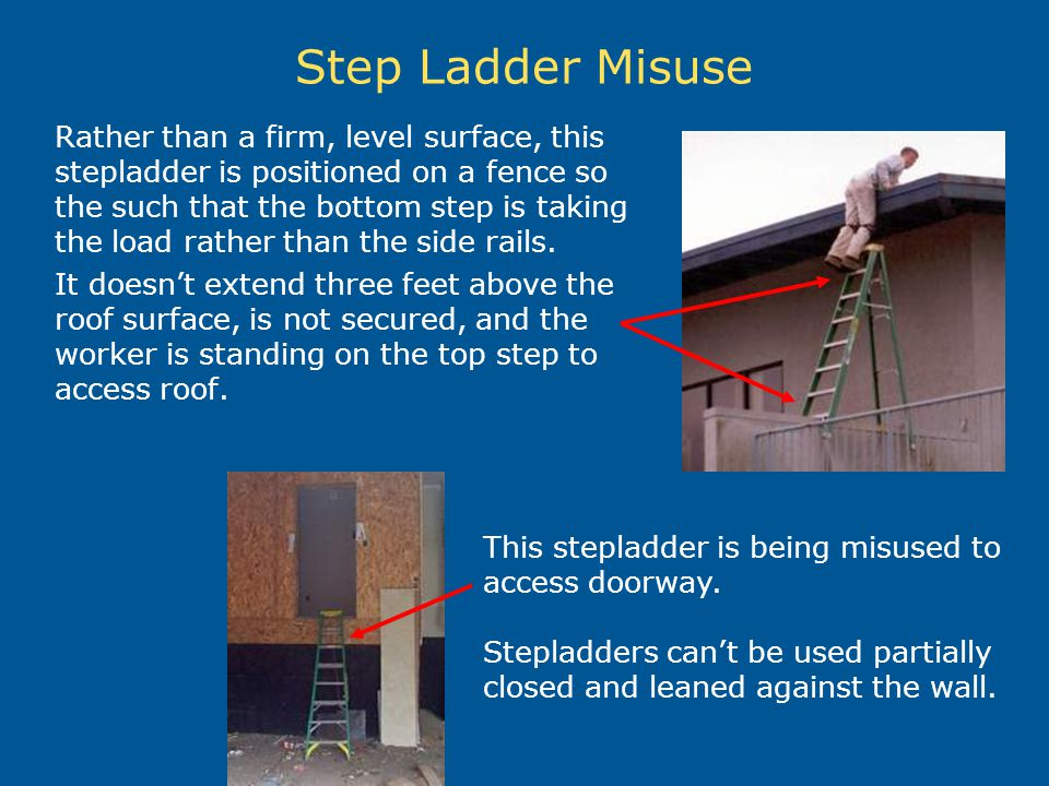 Step Ladder Misuse