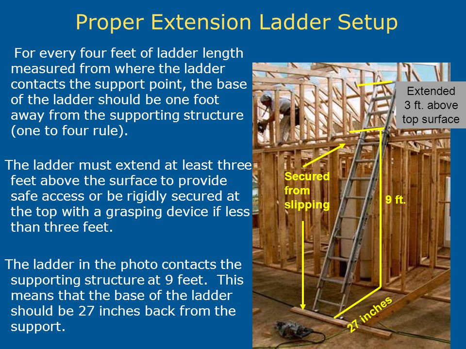 Proper Extension Ladder Setup