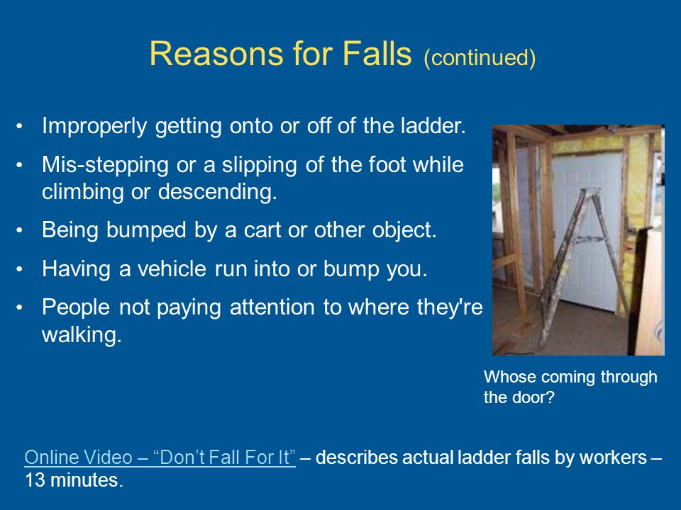 Reasons for Falls (continued)