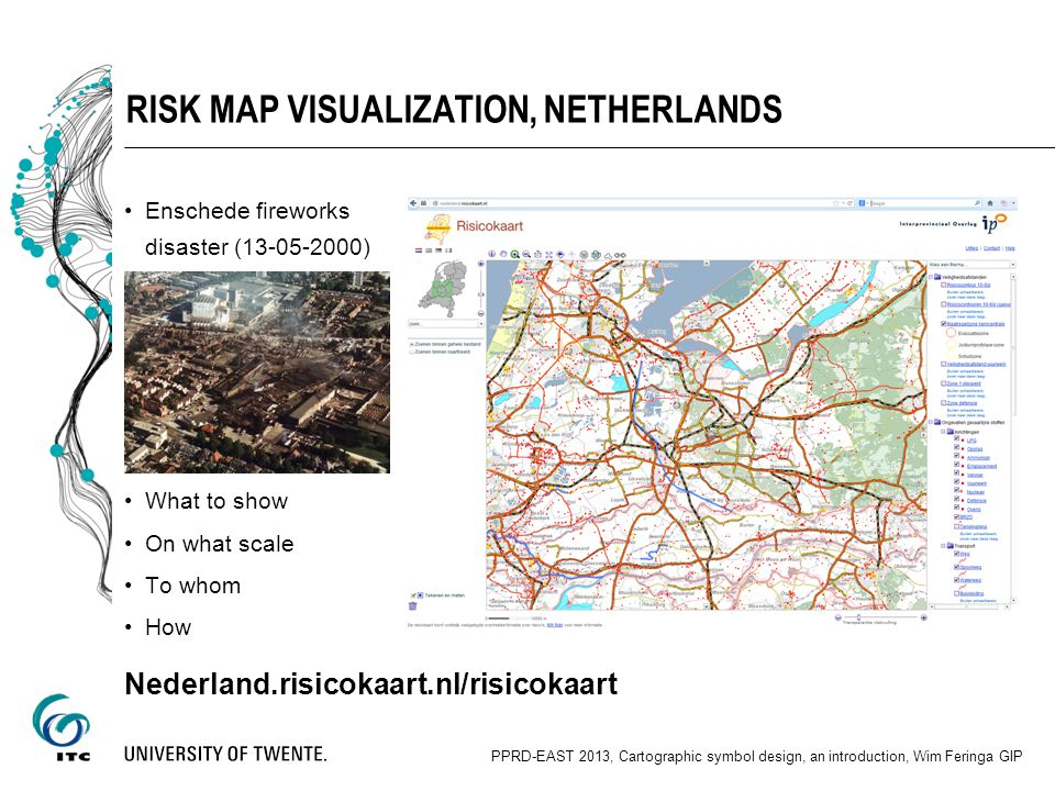 Risk map visualization, Netherlands