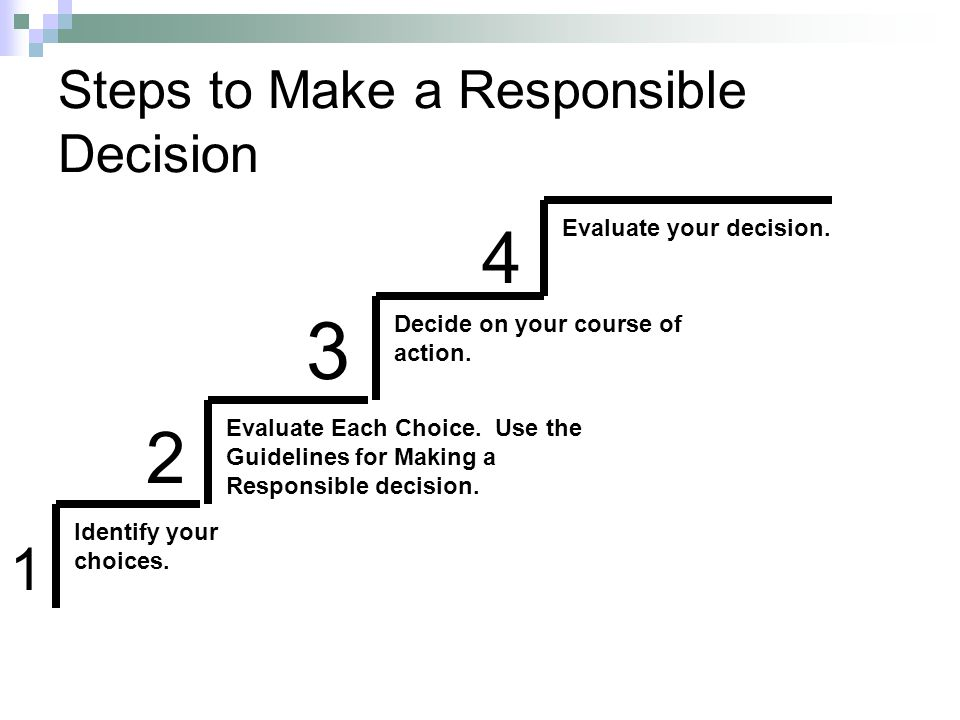Steps to Make a Responsible Decision