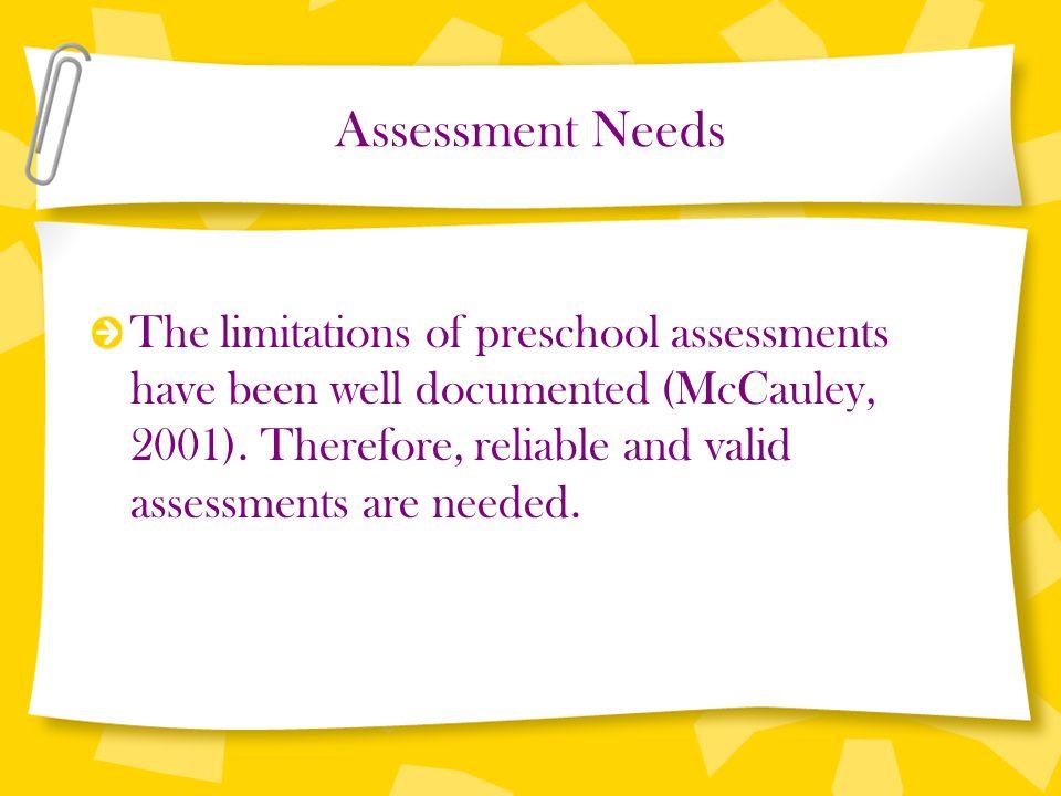 Assessment Needs