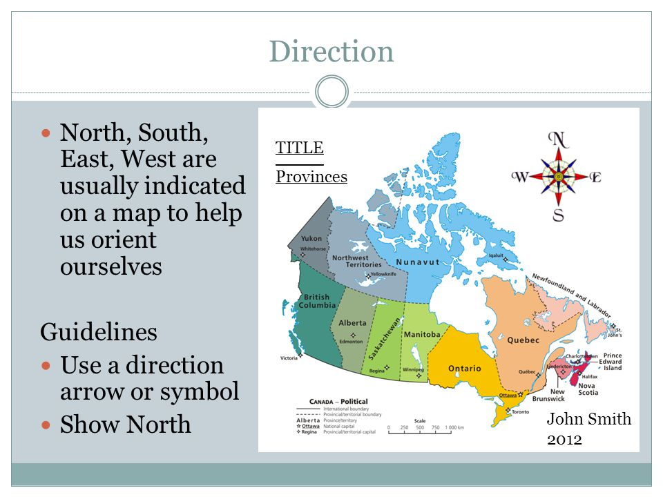 Making Maps Guidelines Ppt Video Online Download - Us map with north south east west