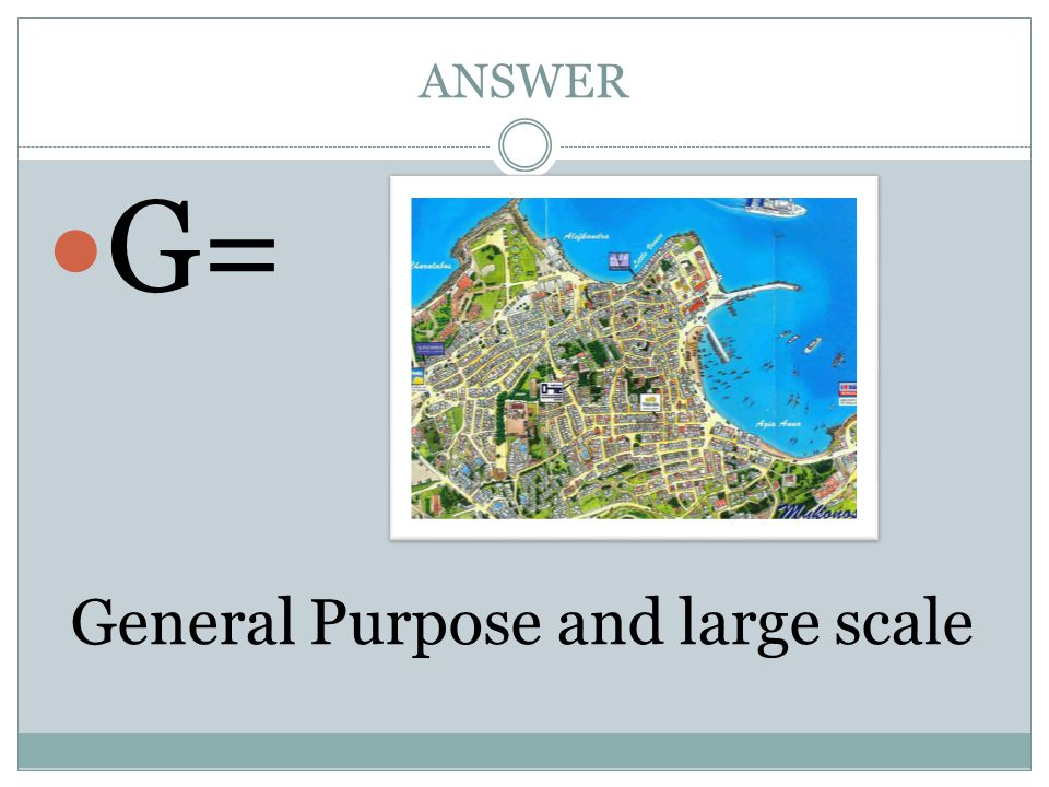 General Purpose and large scale