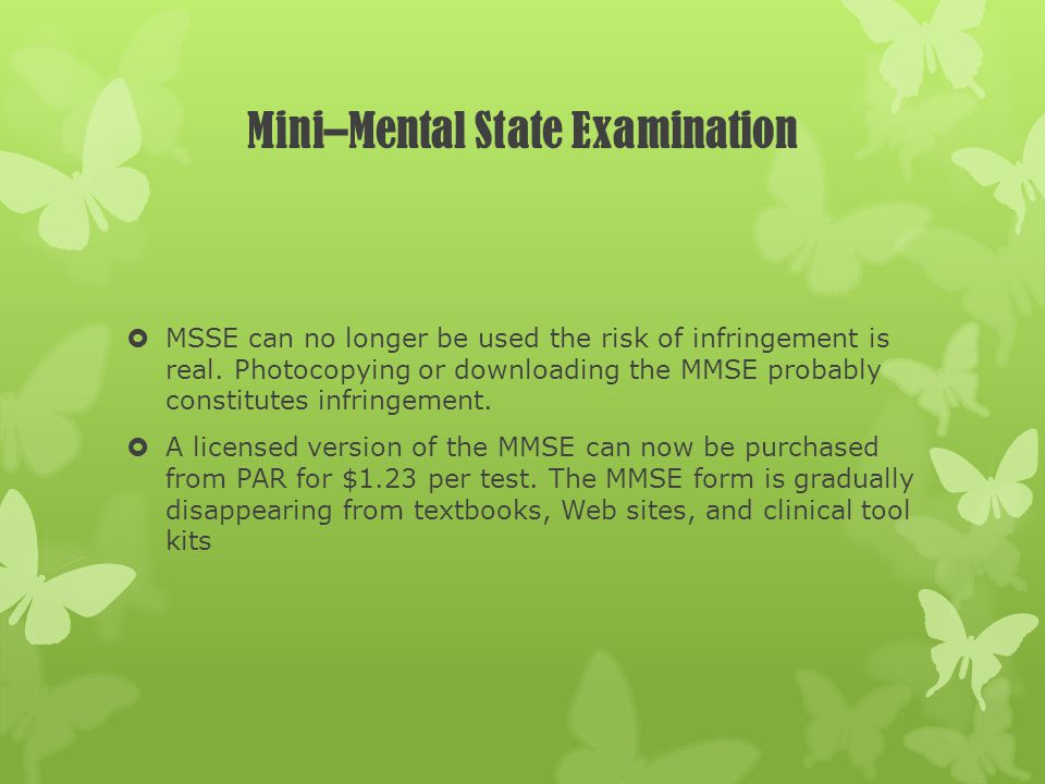 Mini–Mental State Examination