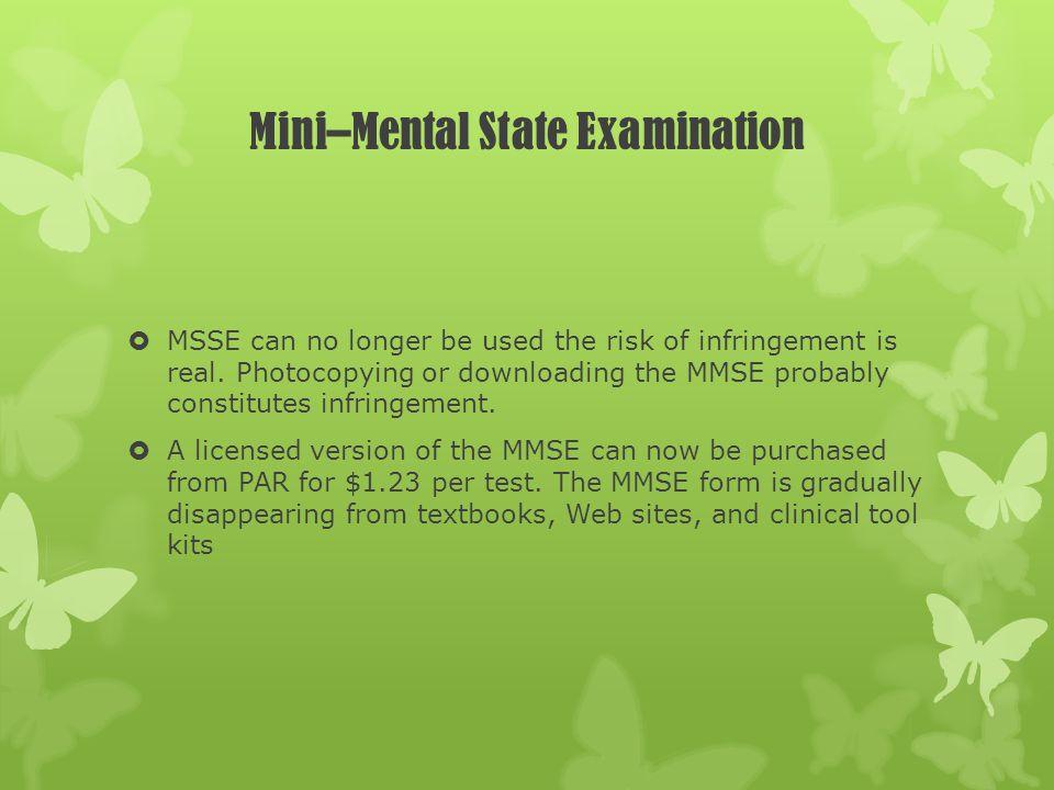 Mini–Mental State Examination