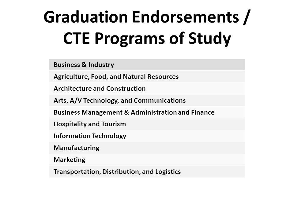 Graduation Endorsements / CTE Programs of Study