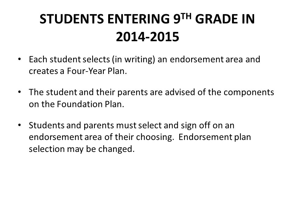 STUDENTS ENTERING 9TH GRADE IN 2014-2015