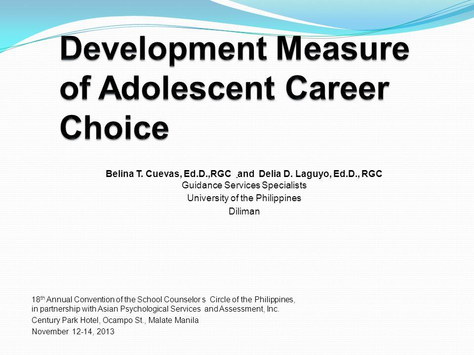 Development Measure of Adolescent Career Choice