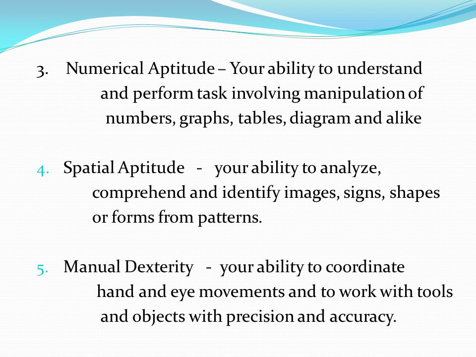 3. Numerical Aptitude – Your ability to understand