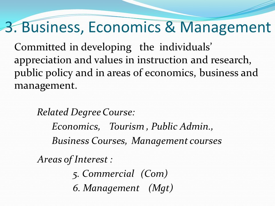 3. Business, Economics & Management