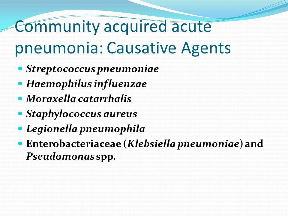 Community acquired acute pneumonia: Causative Agents