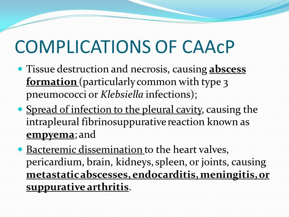 COMPLICATIONS OF CAAcP