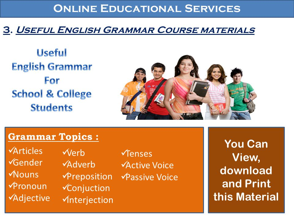 Useful English Grammar For School & College Students