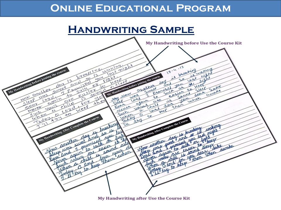Online Educational Program