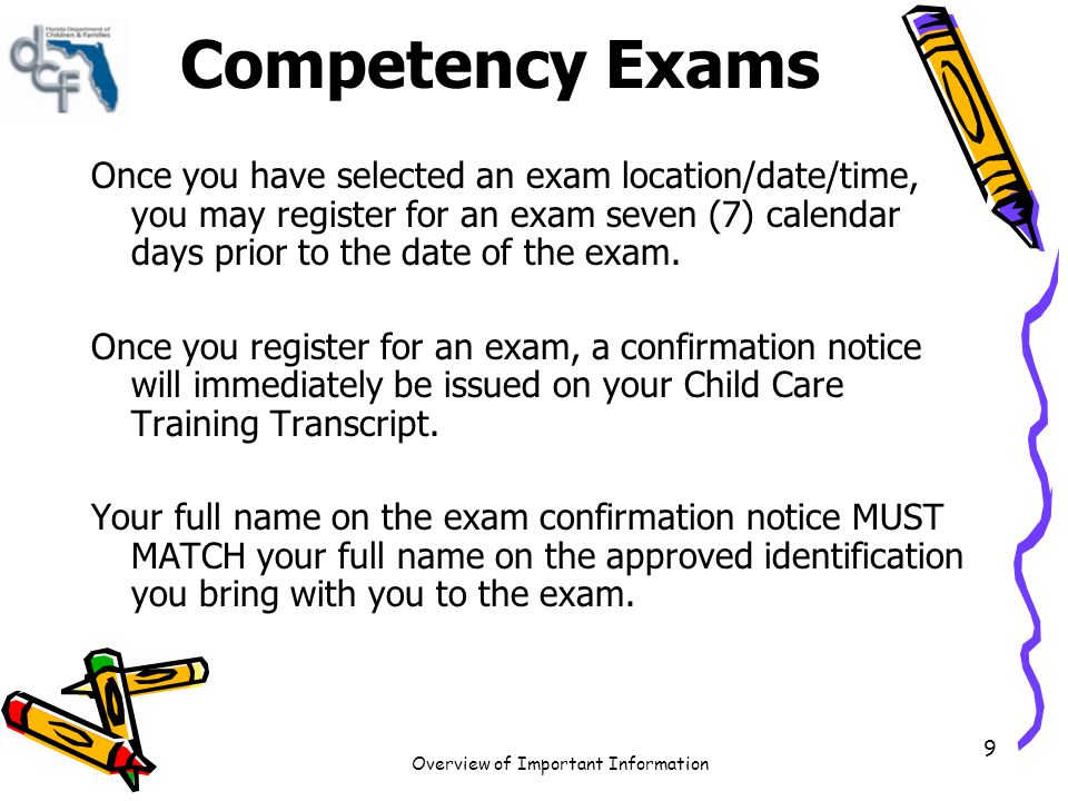 Competency Exams
