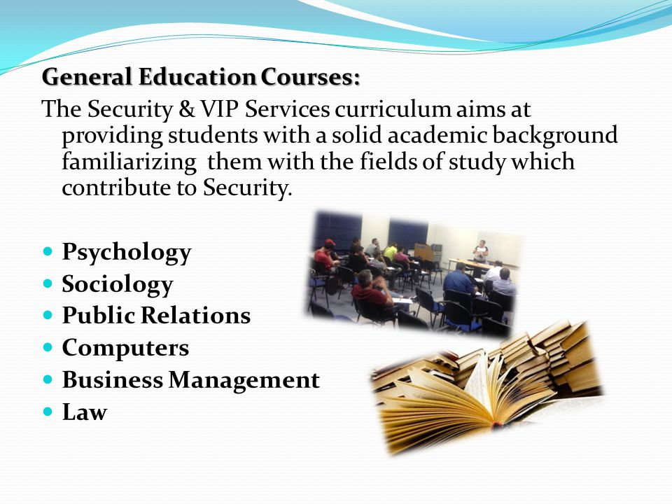 General Education Courses:
