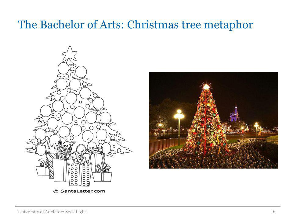 The Bachelor of Arts: Christmas tree metaphor